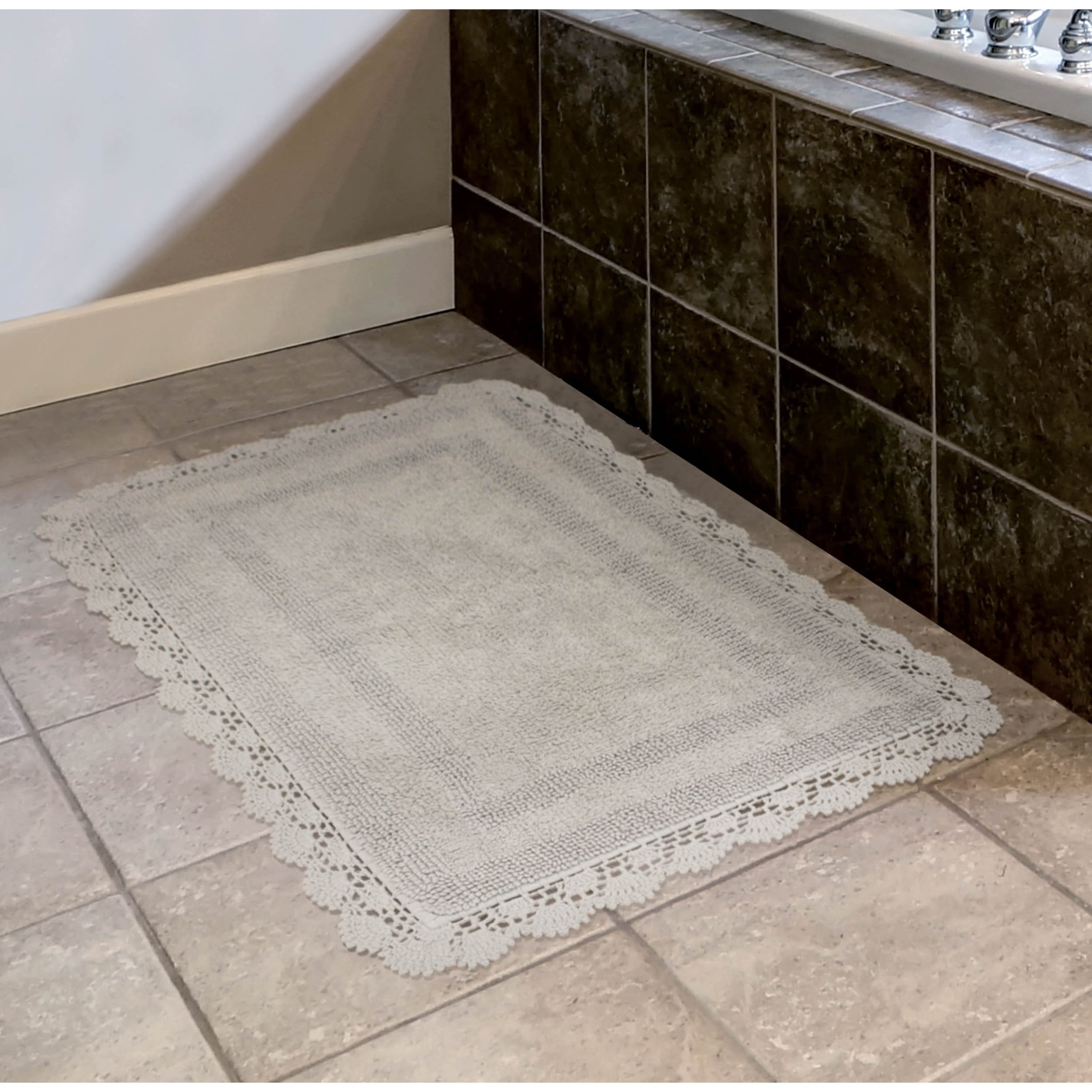 Laura ashley reversible cotton crochet 2 piece bath rug set free laura ashley reversible cotton crochet 2 piece bath rug set free shipping on orders over 45 overstock 23967802 dailygadgetfo Choice Image