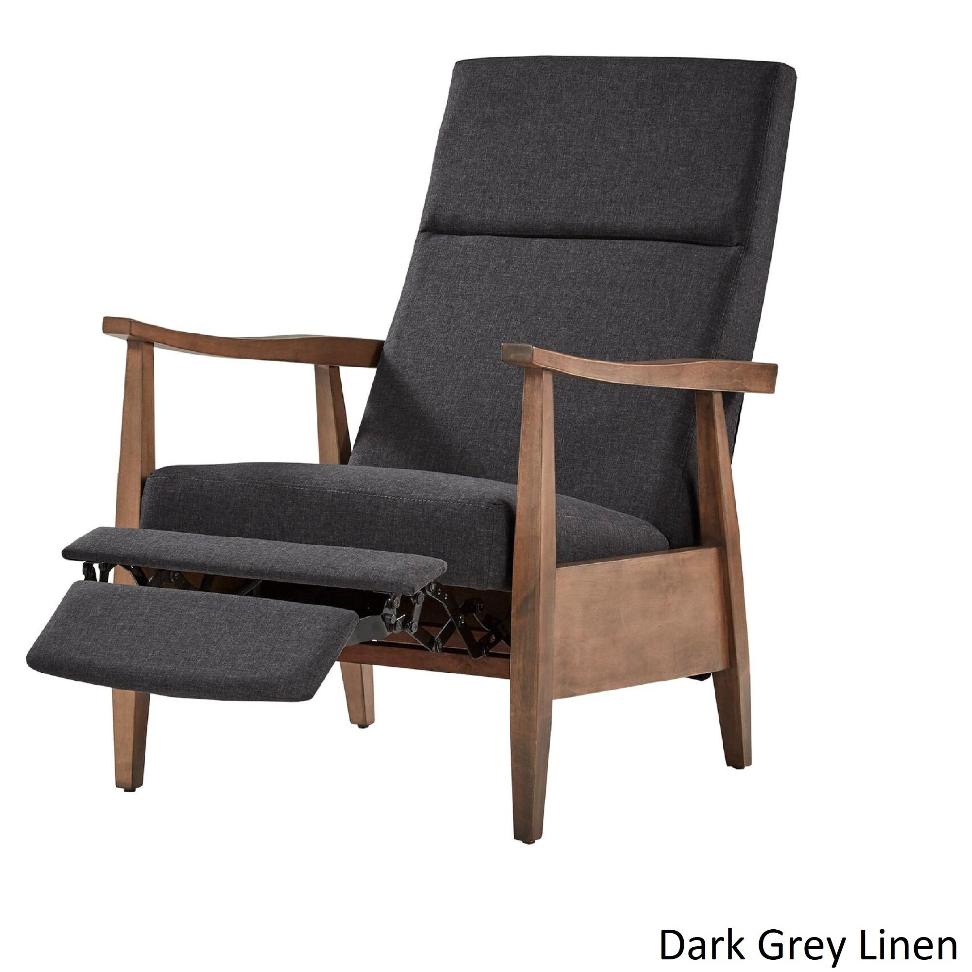 Brayden Mid-Century Wood Arm Recliner by iNSPIRE Q Modern - Free Shipping  Today - Overstock.com - 23967838