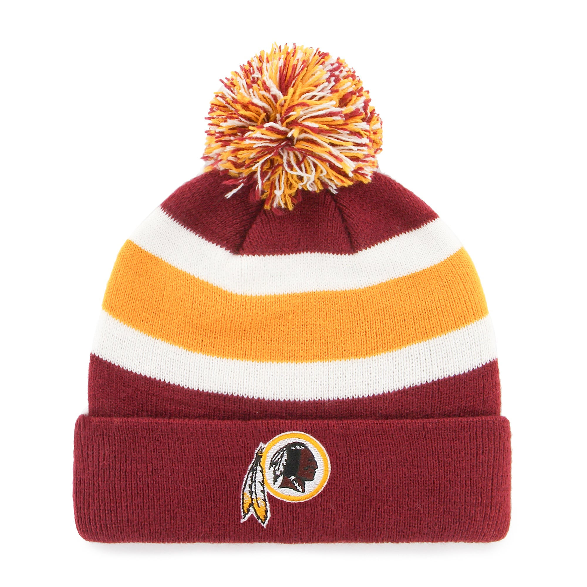 b121094193d Shop Washington Redskins NFL Breakaway Knit Beanie with Pom - Free Shipping  On Orders Over  45 - Overstock - 17771877