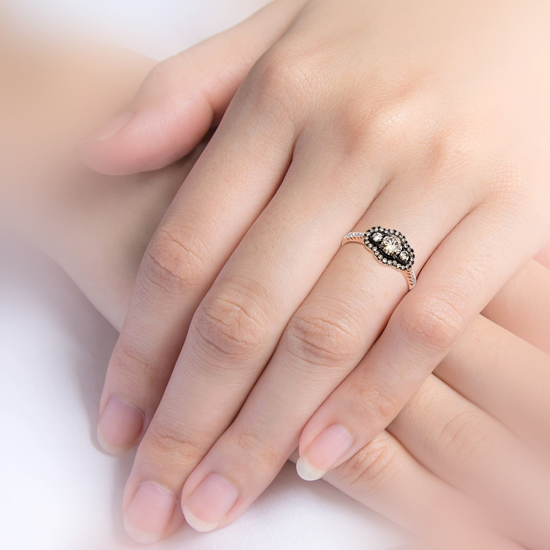 Shop Cappuccino Diamonds 1.00ct Rose Gold Ladies Engagement Ring ...