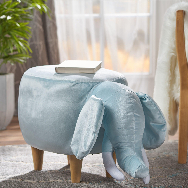 Shop Rosie Velvet Elephant Ottoman by Christopher Knight Home - On ...