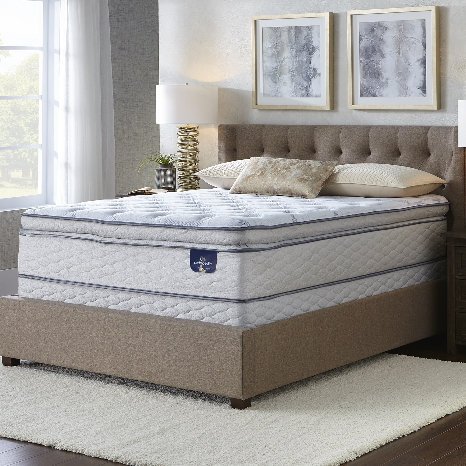Mattress king Memory Foam Serta Westview Super Pillowtop Firm Mattress Overstock Shop Serta Westview Super Pillowtop Firm Mattress On Sale Free