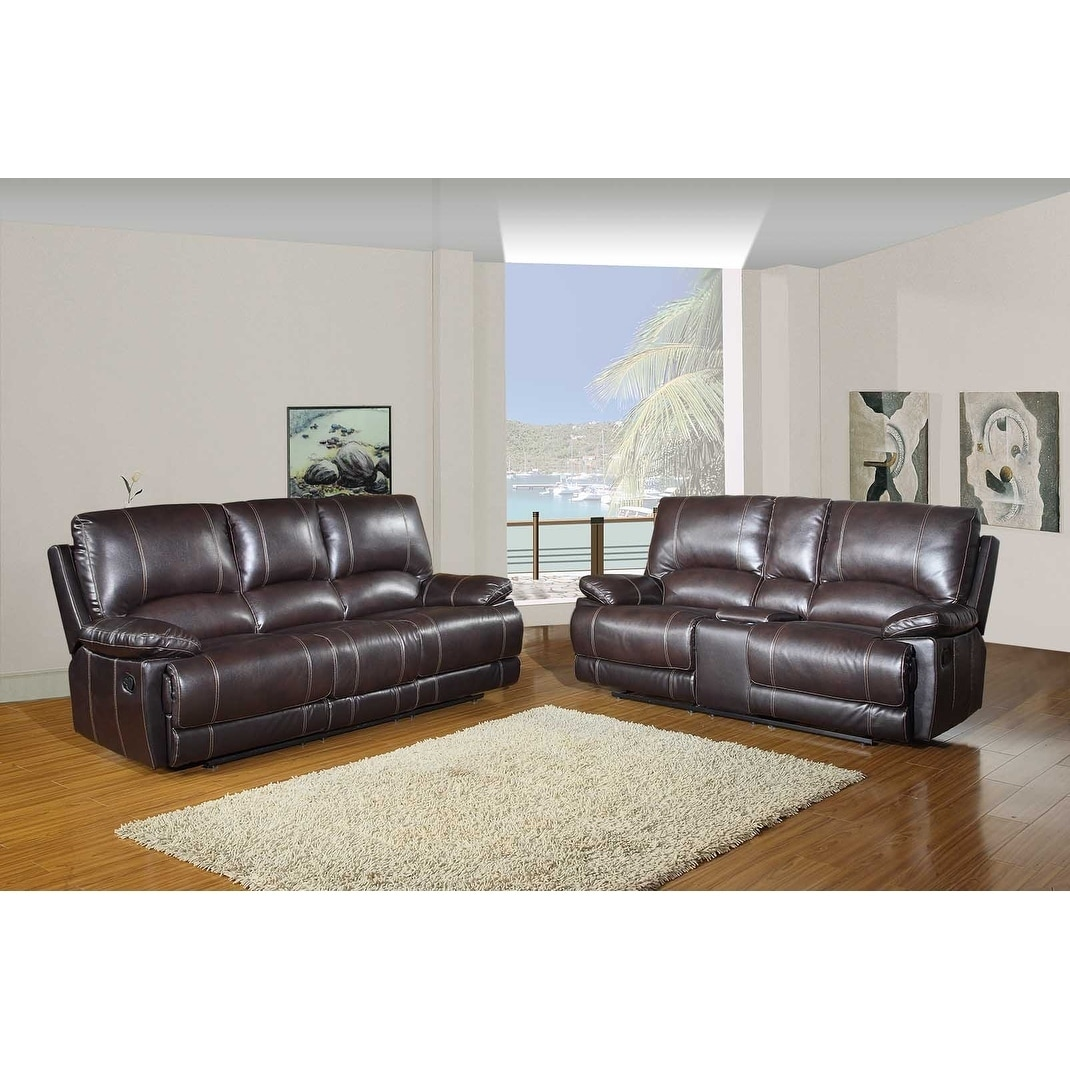 Shop Faux Leather Air/Match Upholstered 2-Piece Living Room Console ...