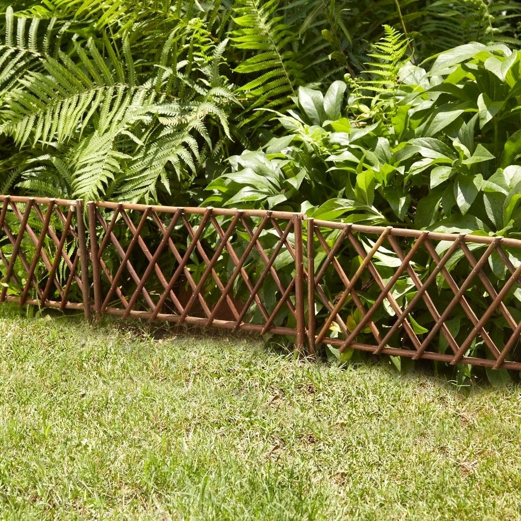 Shop GardenPath 12-pack Willow 18-inch Border Garden Fence - Free ...