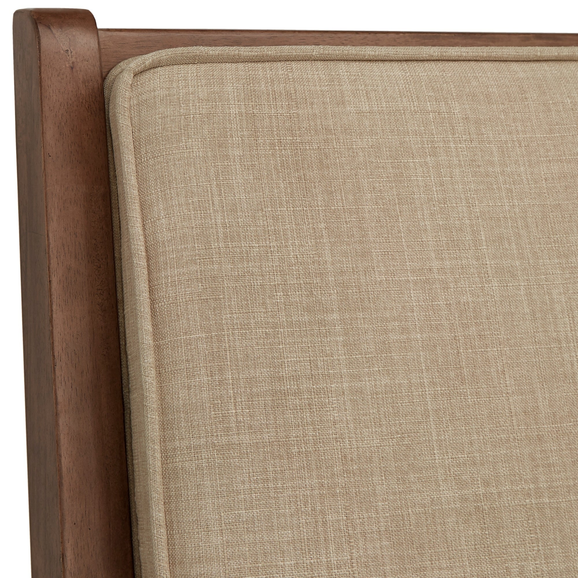 Sylvia Queen Size Mid-Century Dual Panel Linen and Wood Bed by iNSPIRE Q  Modern - Free Shipping Today - Overstock.com - 23980353
