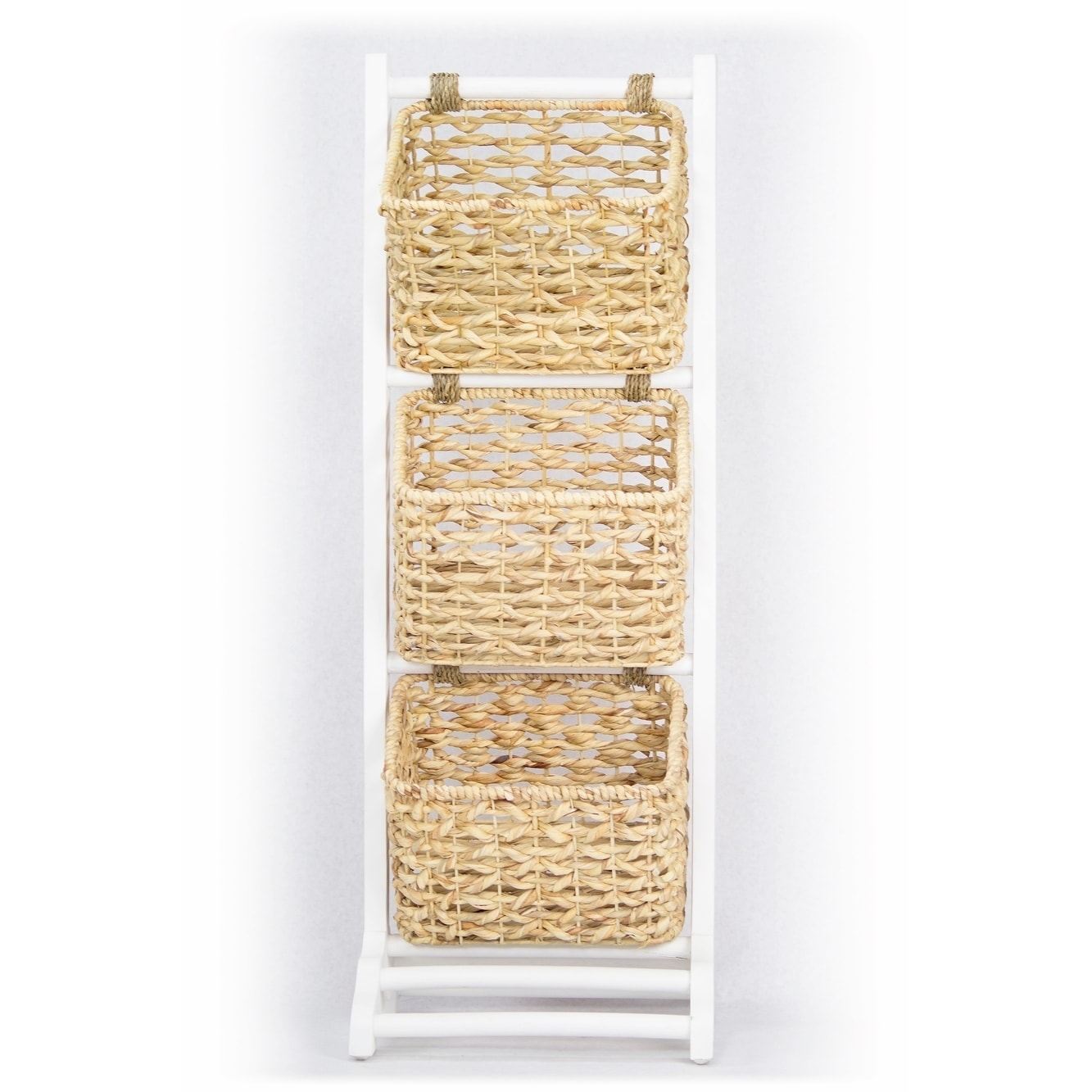 Shop Vale 3-Tier Magazine Rack with 3 Hyacinth Storage Baskets ...