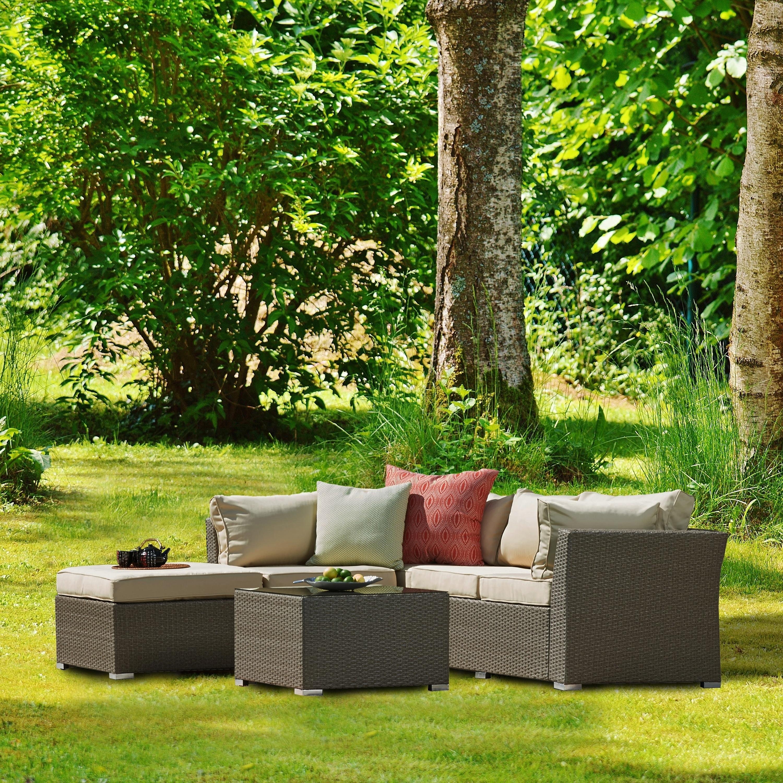 Shop Jicaro 5 Pieces Outdoor Wicker Sectional Sofa Set Free