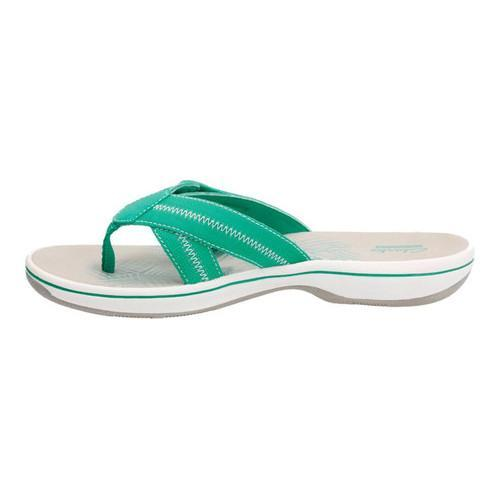 7360c07a7 Shop Women s Clarks Brinkley Calm Thong Sandal Turquoise Synthetic - Free  Shipping Today - Overstock - 15006717
