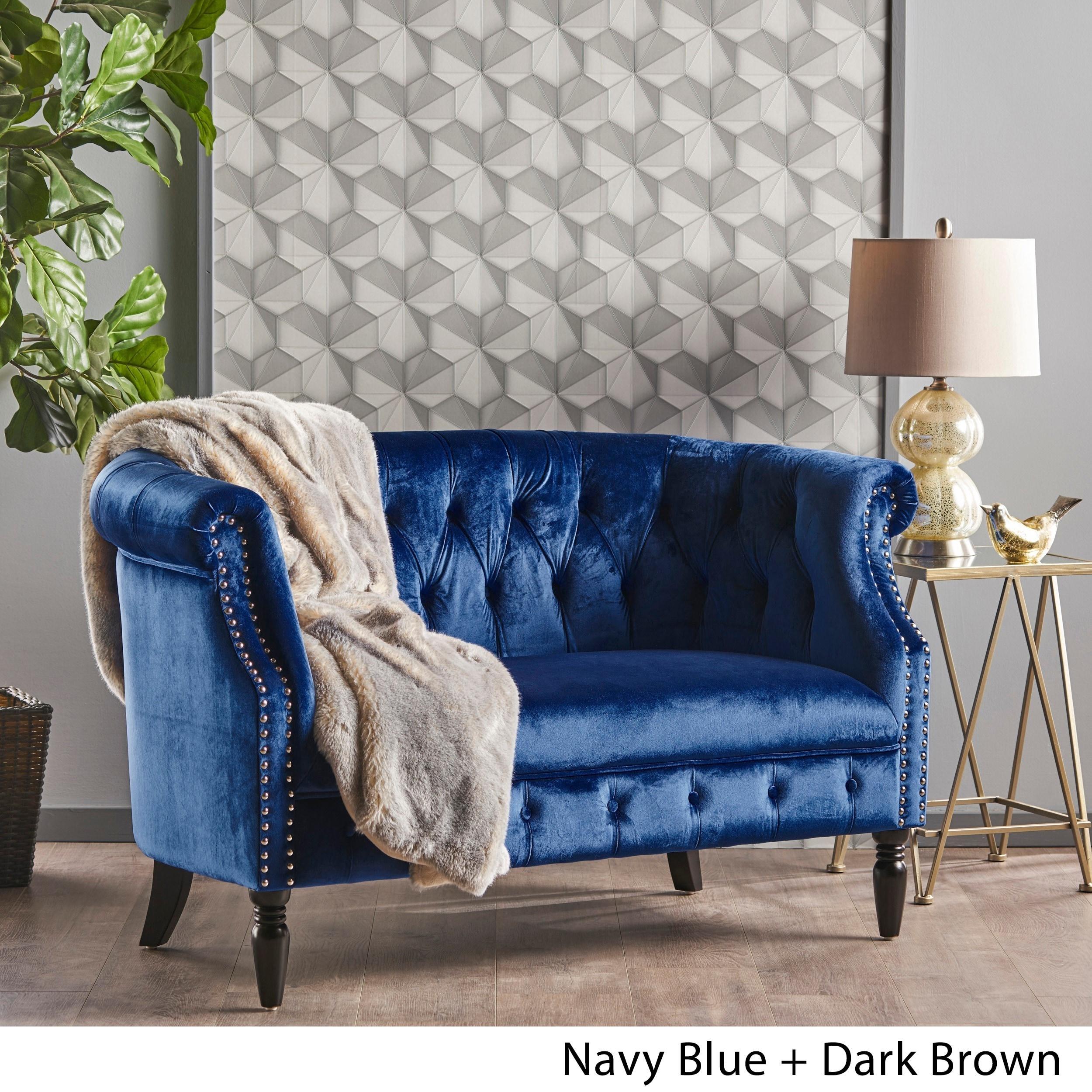 wingsberthouse velvet living l russcarnahan room sofa tufted loveseat com grey