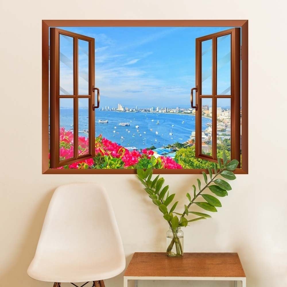 Shop Beach Of Pattaya Removable Wall Sticker Inside Window Wall