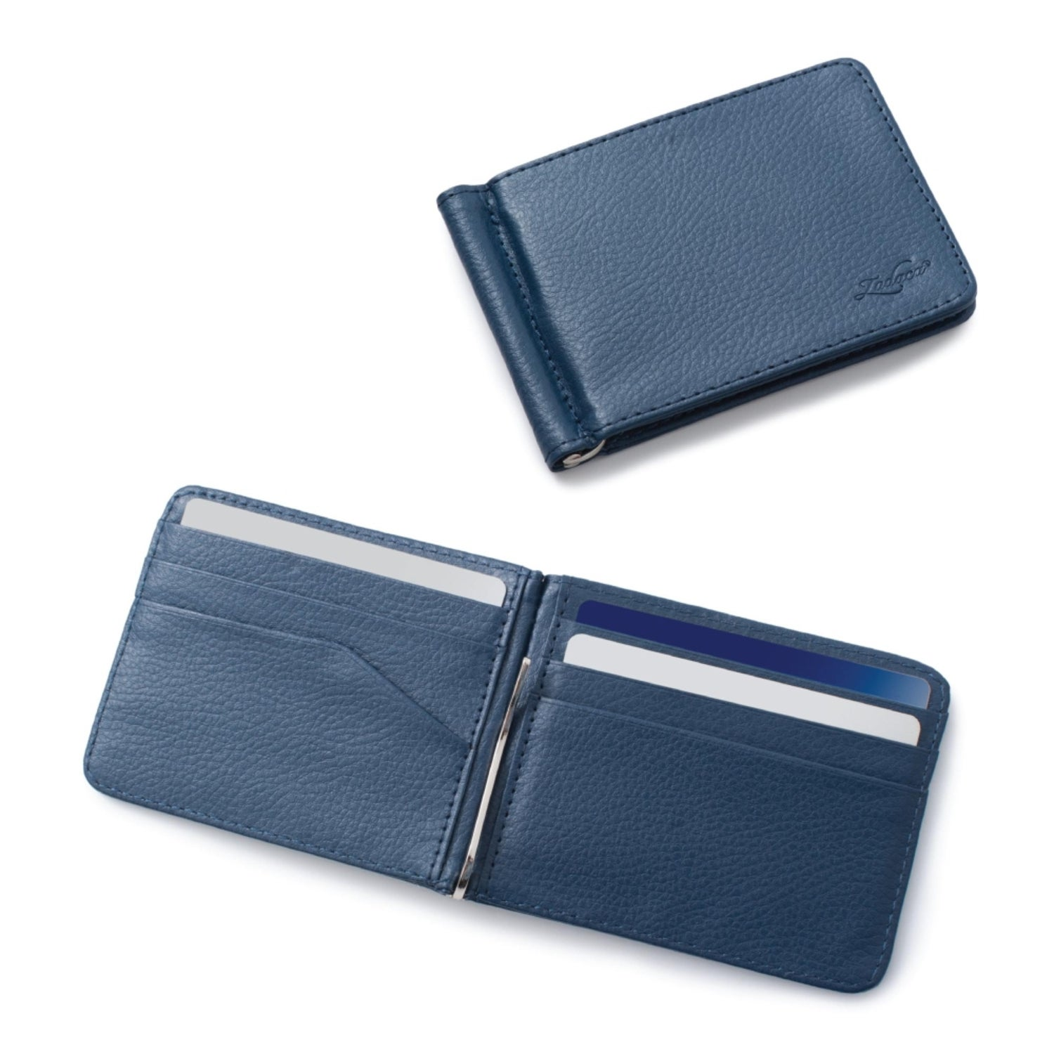 designer fashion c052b a8a89 Zodaca Men's Slim Bifold Leather Wallet Purse Credit Card Holder Executive  Business Card Case with Removable Money Clip
