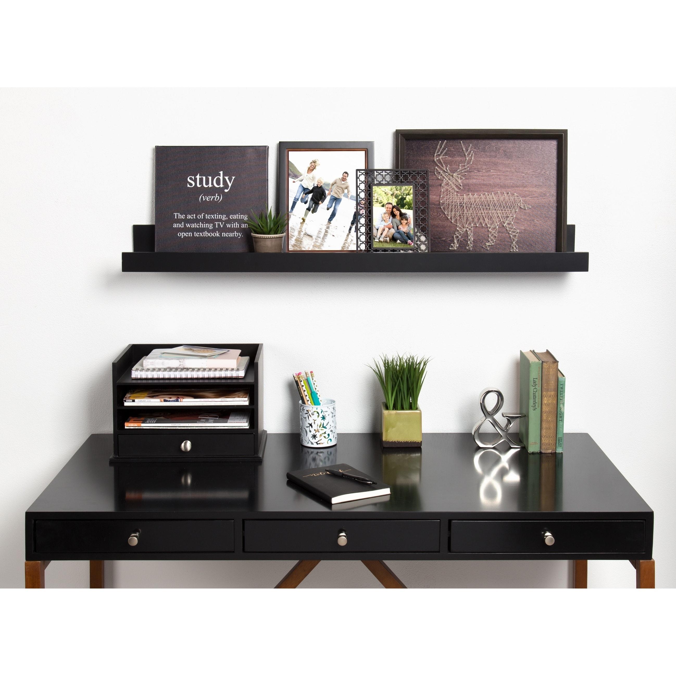 Shop Levie Deep Wood Wall Shelf Picture Frame Ledge On Sale Free