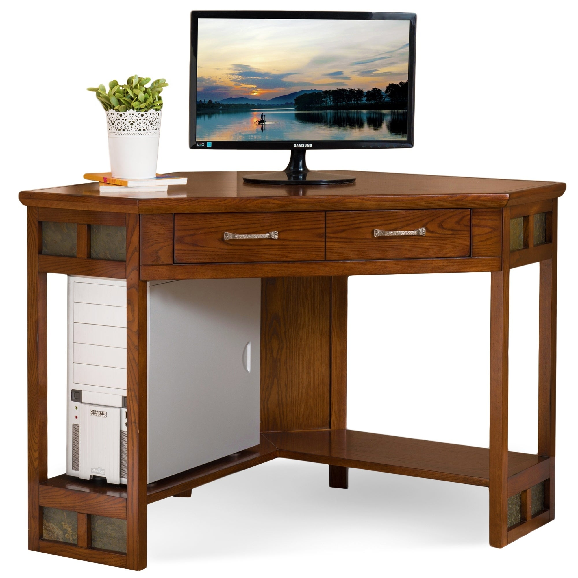 drawer products product student c o oak modern computer odc desk