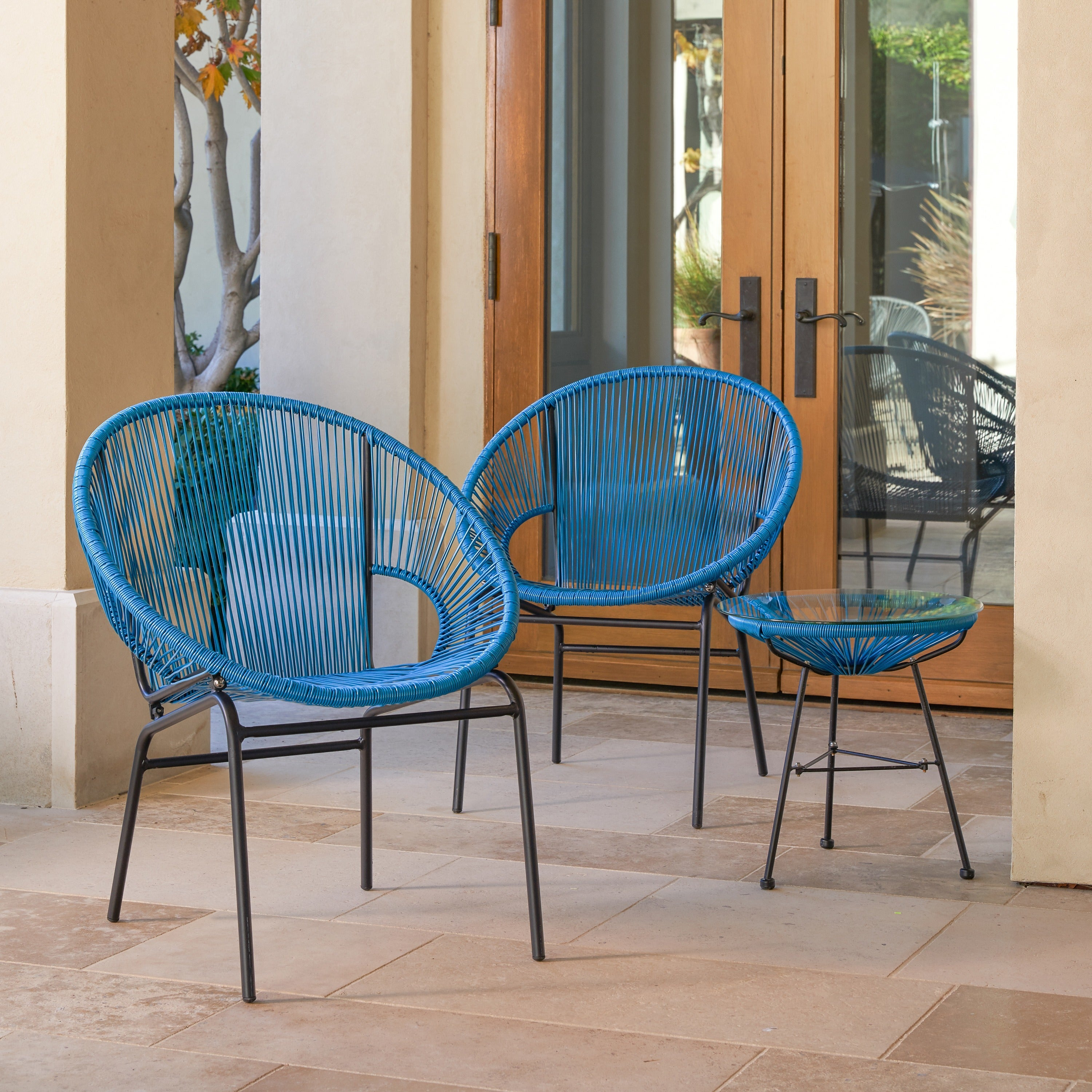 Superieur Shop Sarcelles Woven Wicker Patio Chairs By Corvus (Set Of 2)   Free  Shipping Today   Overstock.com   17805619