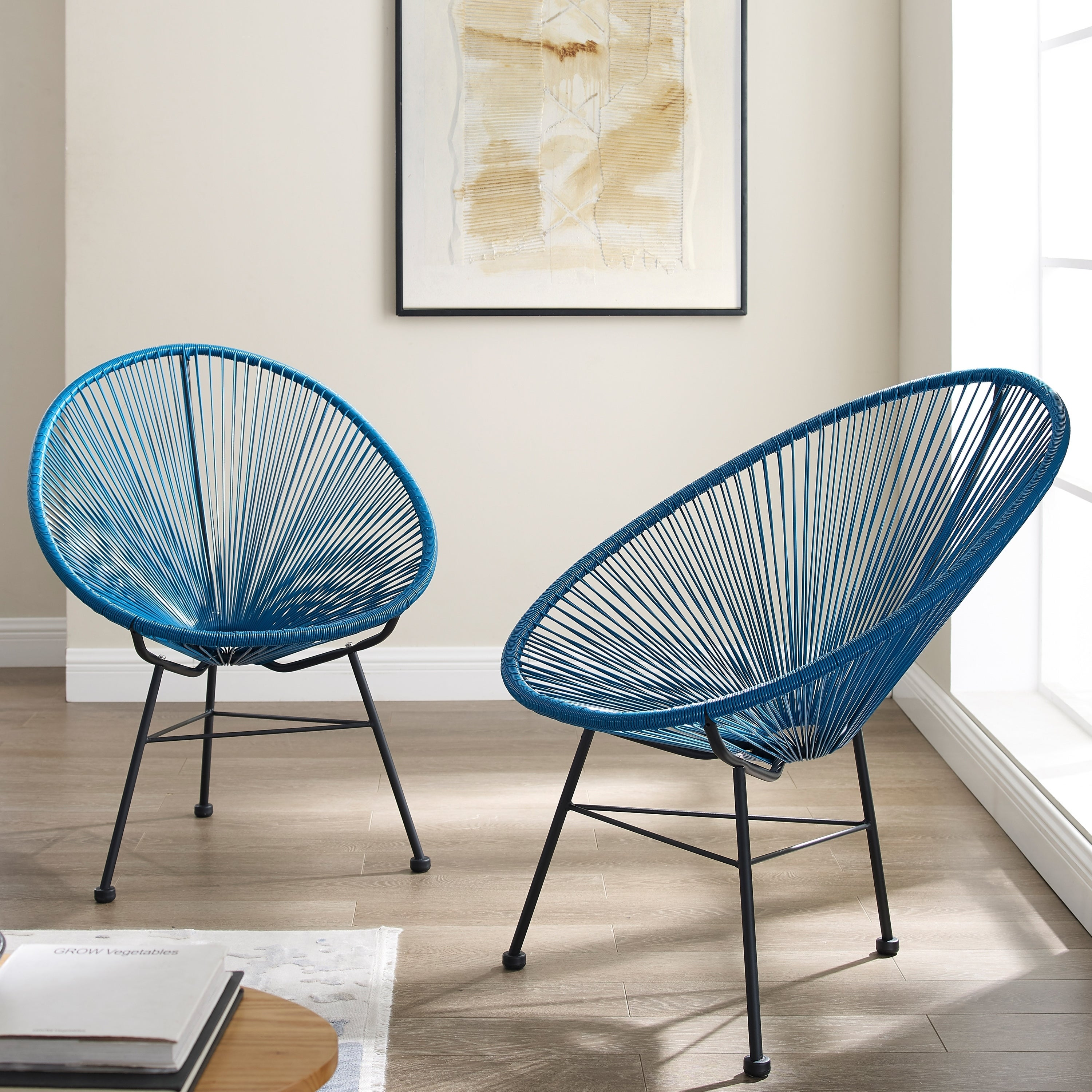 6223167b188 Shop Sarcelles Modern Wicker Patio Chairs by Corvus (Set of 2) - Free  Shipping Today - Overstock - 17805643