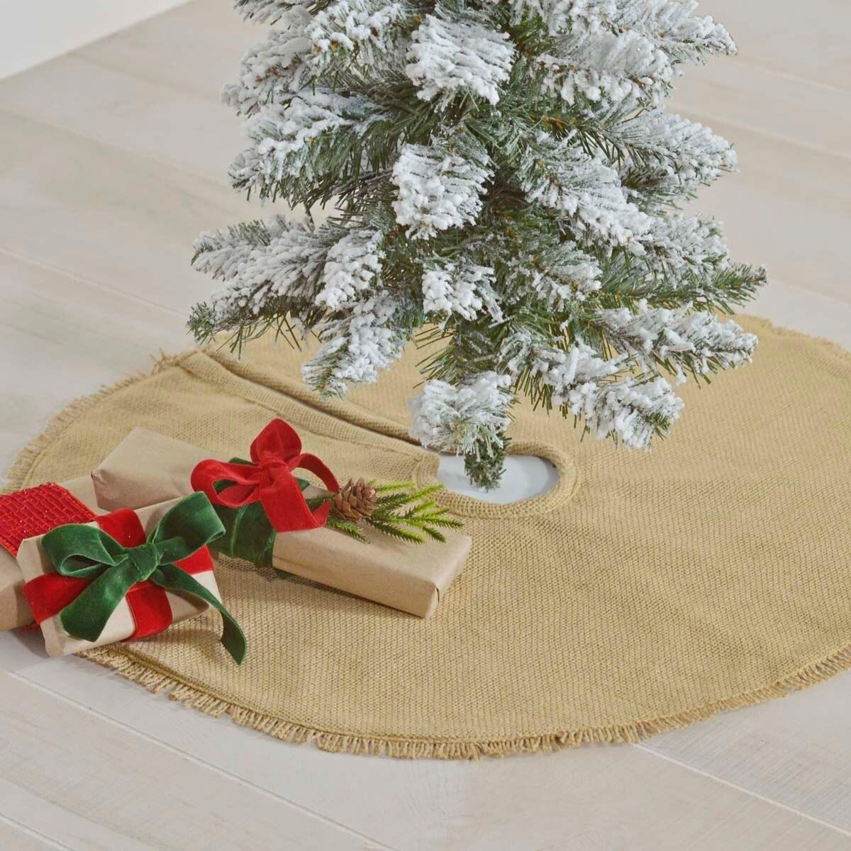 Festive Burlap Mini Tree Skirt Free Shipping On Orders Over 45 17807293
