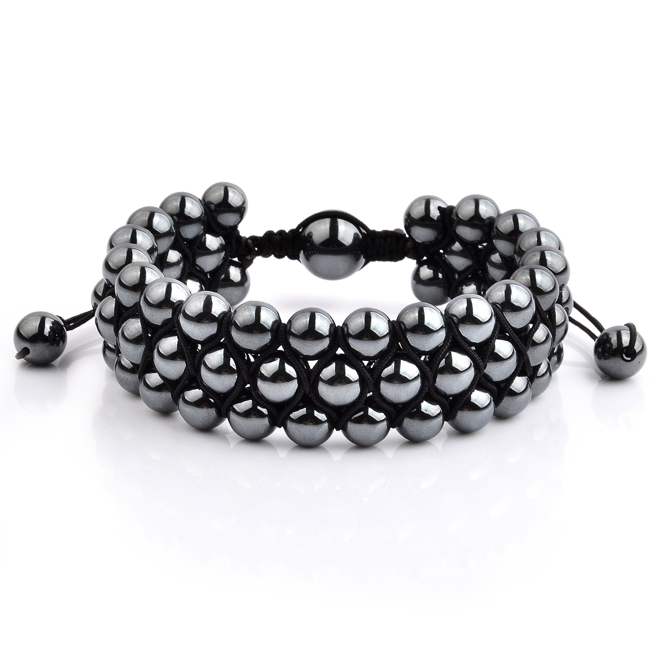 round hematite beads shop beadery jewelry small grey hemp strand jewellery