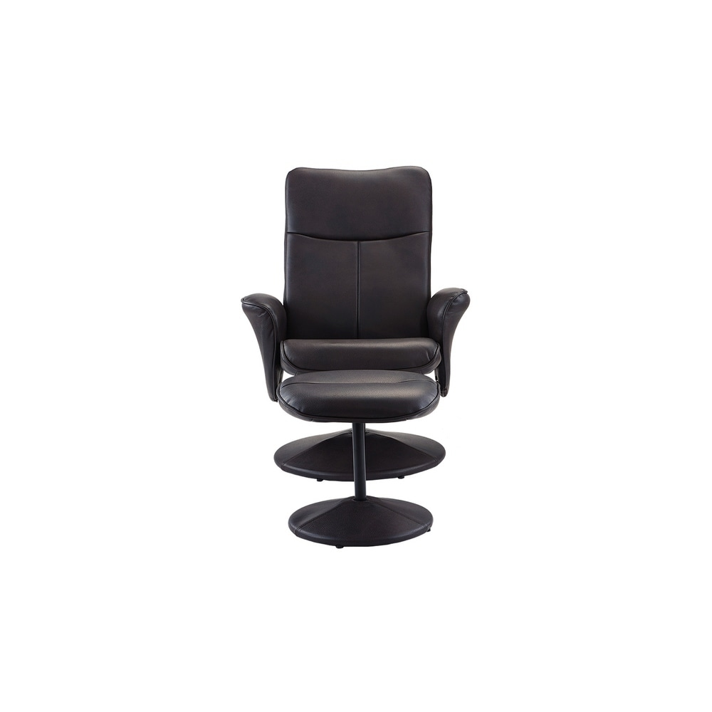 Shop Faux Leather Swivel Recliner Office Living Room Gaming Chair ...