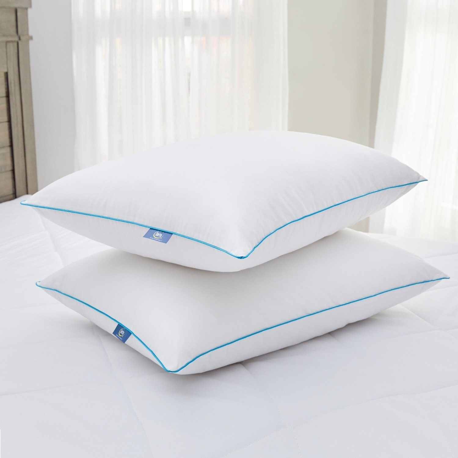 rest foam conventional shipping free cool gel memory tempure pillow product overstock sleep bed on bath orders over arctic blue bedding