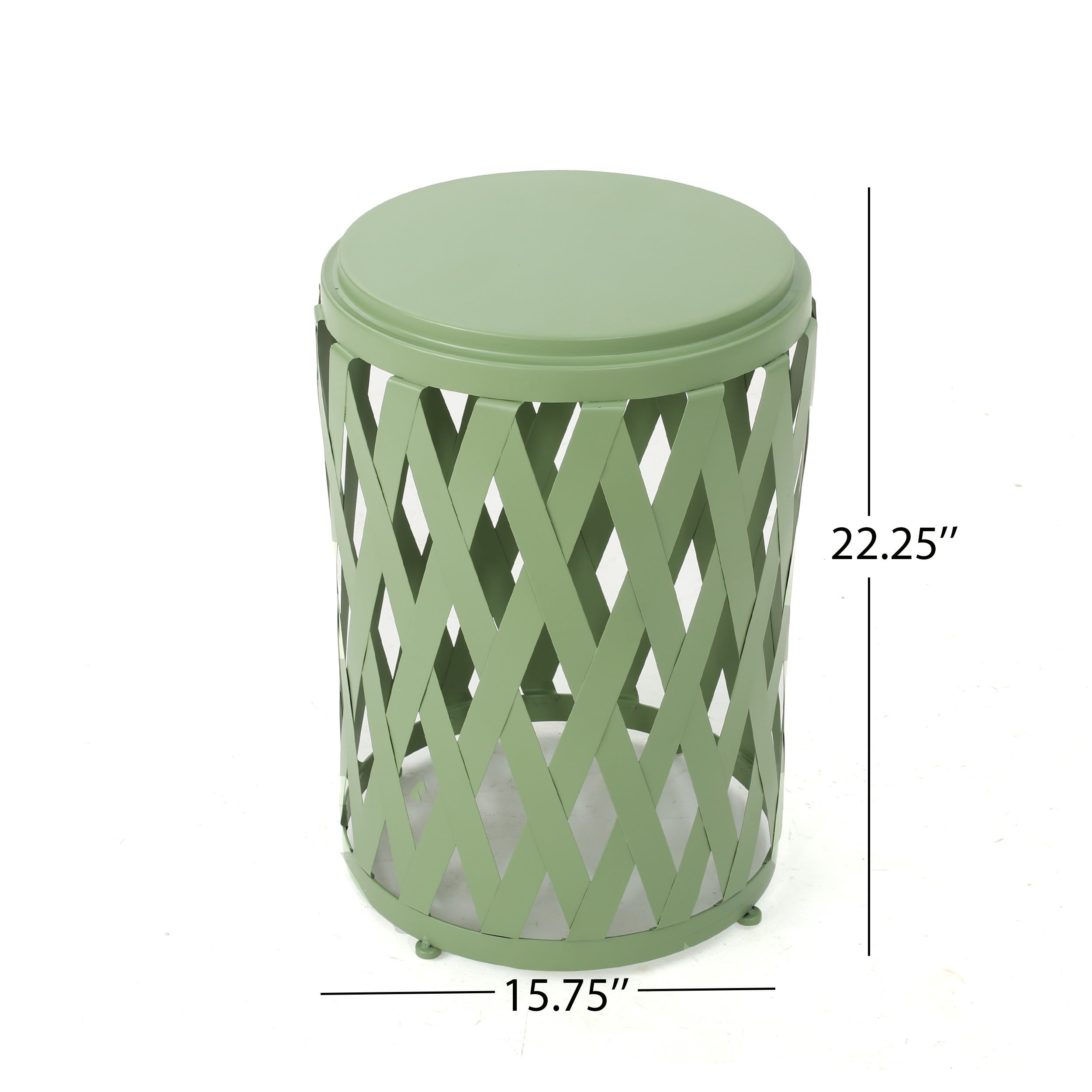 Shop Pecola Inch Round Lattice Side Table By Christopher Knight - Round lattice coffee table