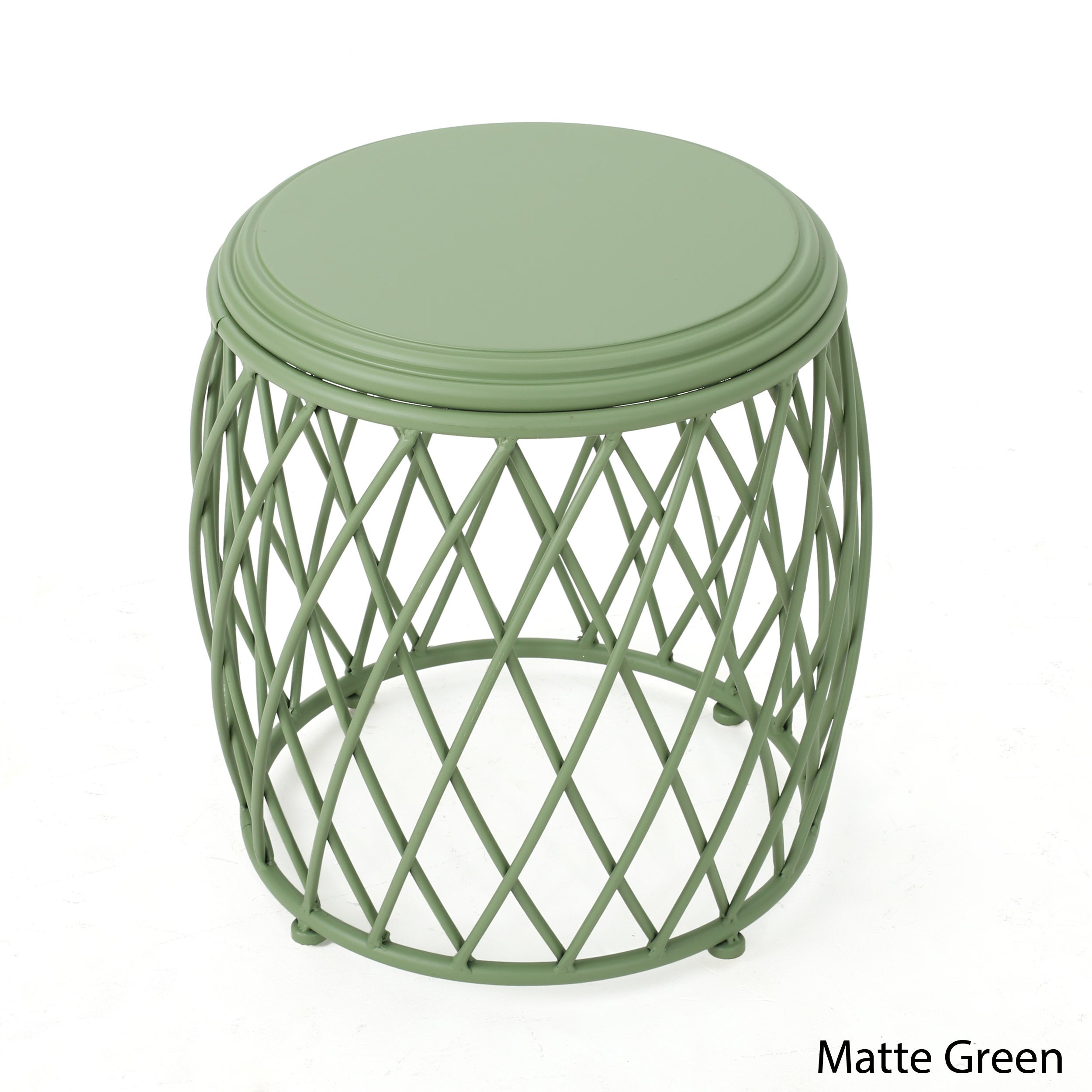 Shop Bryony Inch Round Lattice Side Table By Christopher Knight - Round lattice coffee table