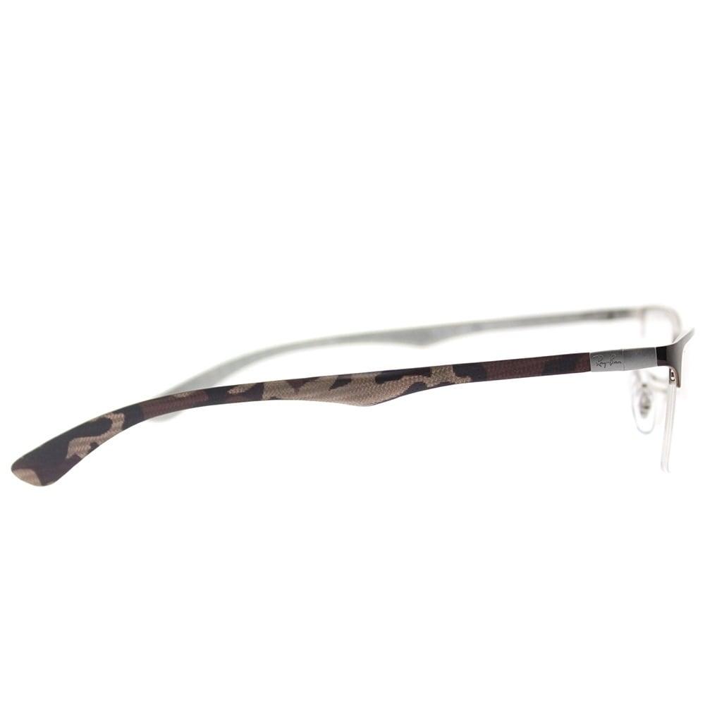 8b5b302853 ... 50% off shop ray ban semi rimless rx 8413 2892 unisex brown frame eyeglasses  free