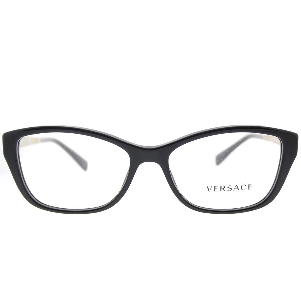 fe2a26bec19 Shop Versace Cat-Eye VE 3236 GB1 Woman Black Frame Eyeglasses - Free  Shipping Today - Overstock - 17817199