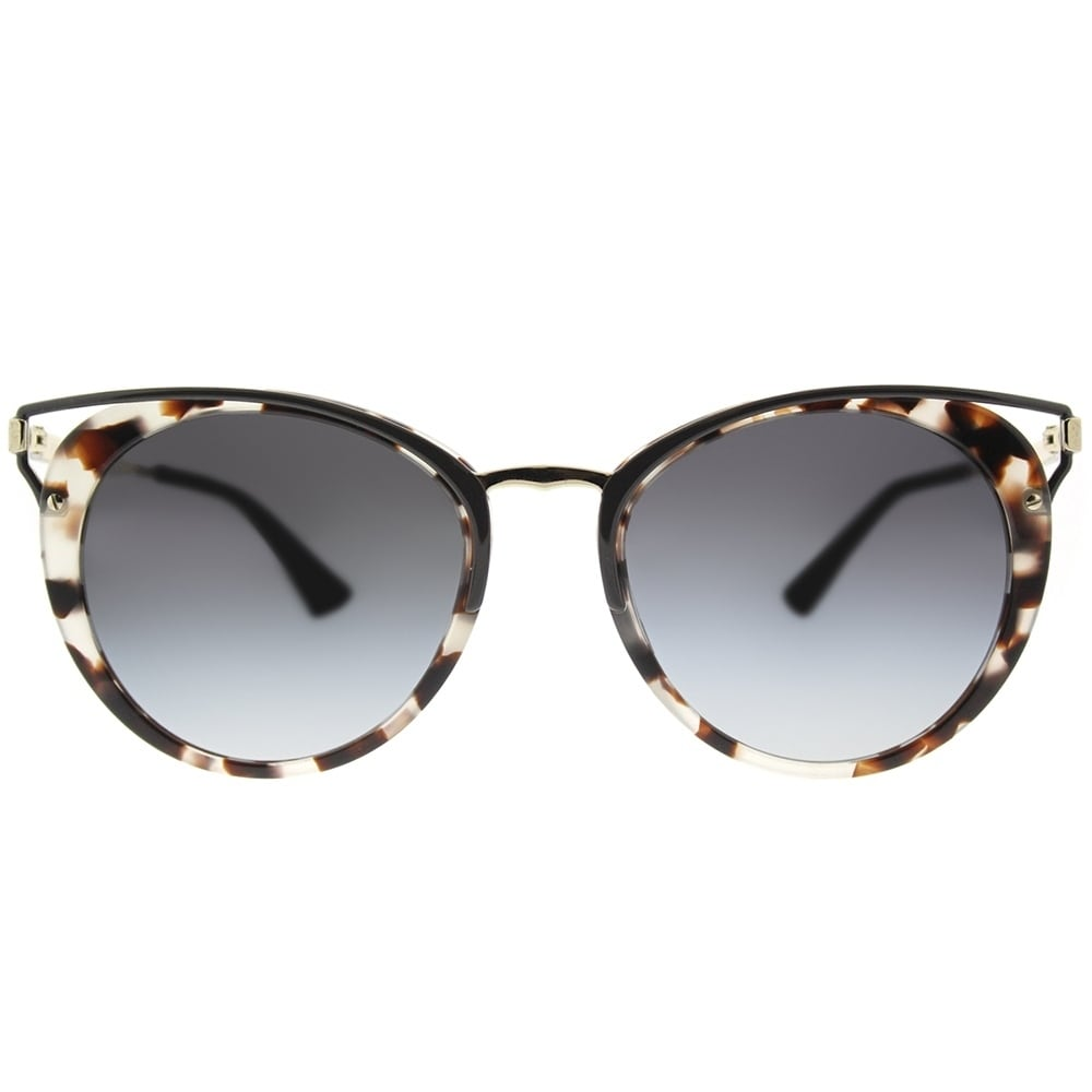 d5e41d741d6c Shop Prada Round PR 66TS UAO5D1 Womens Spotted Opal Brown Frame Grey  Gradient Lens Sunglasses - Free Shipping Today - Overstock - 17817205