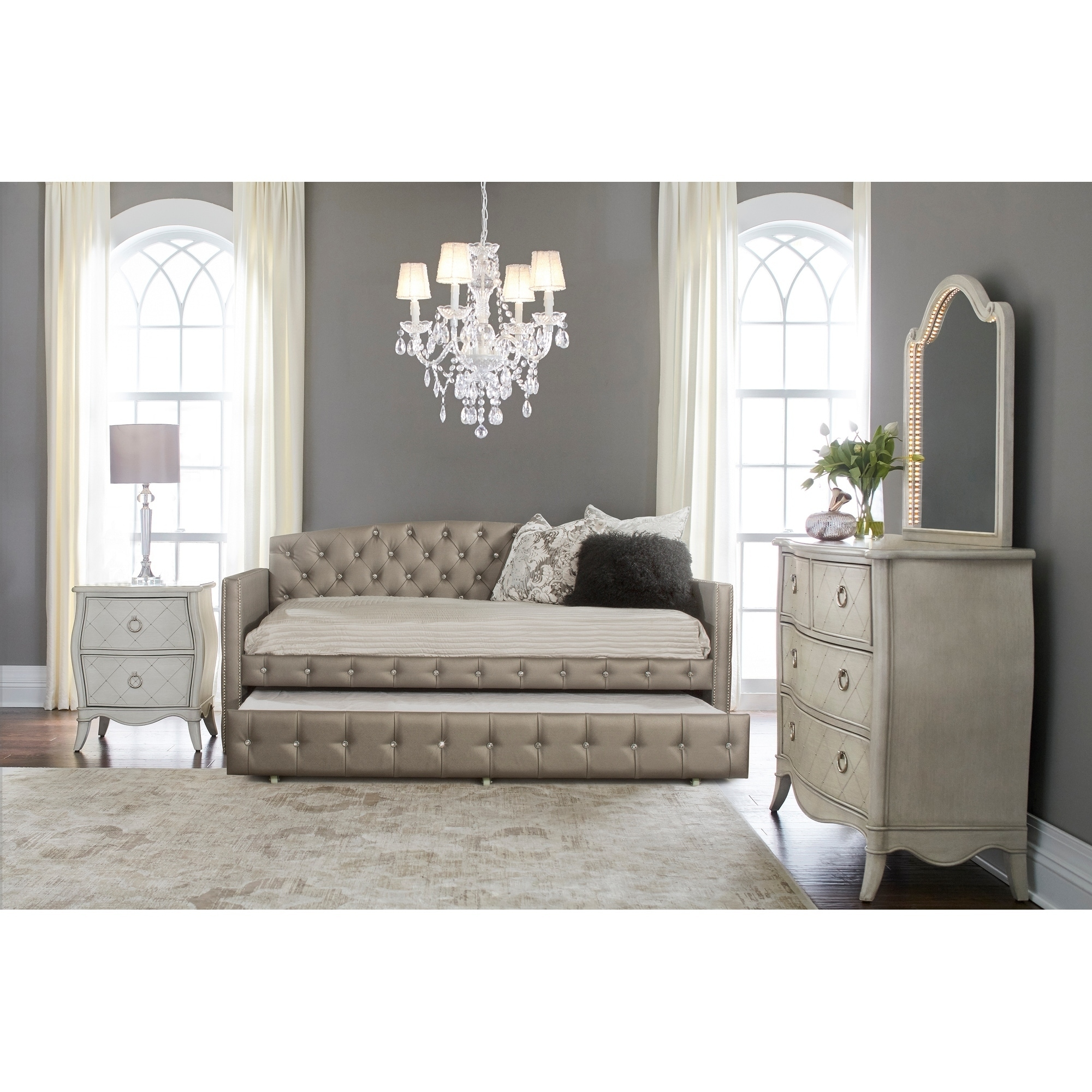 Shop Hillsdale Furniture Memphis Daybed With Trundle Pewter Free