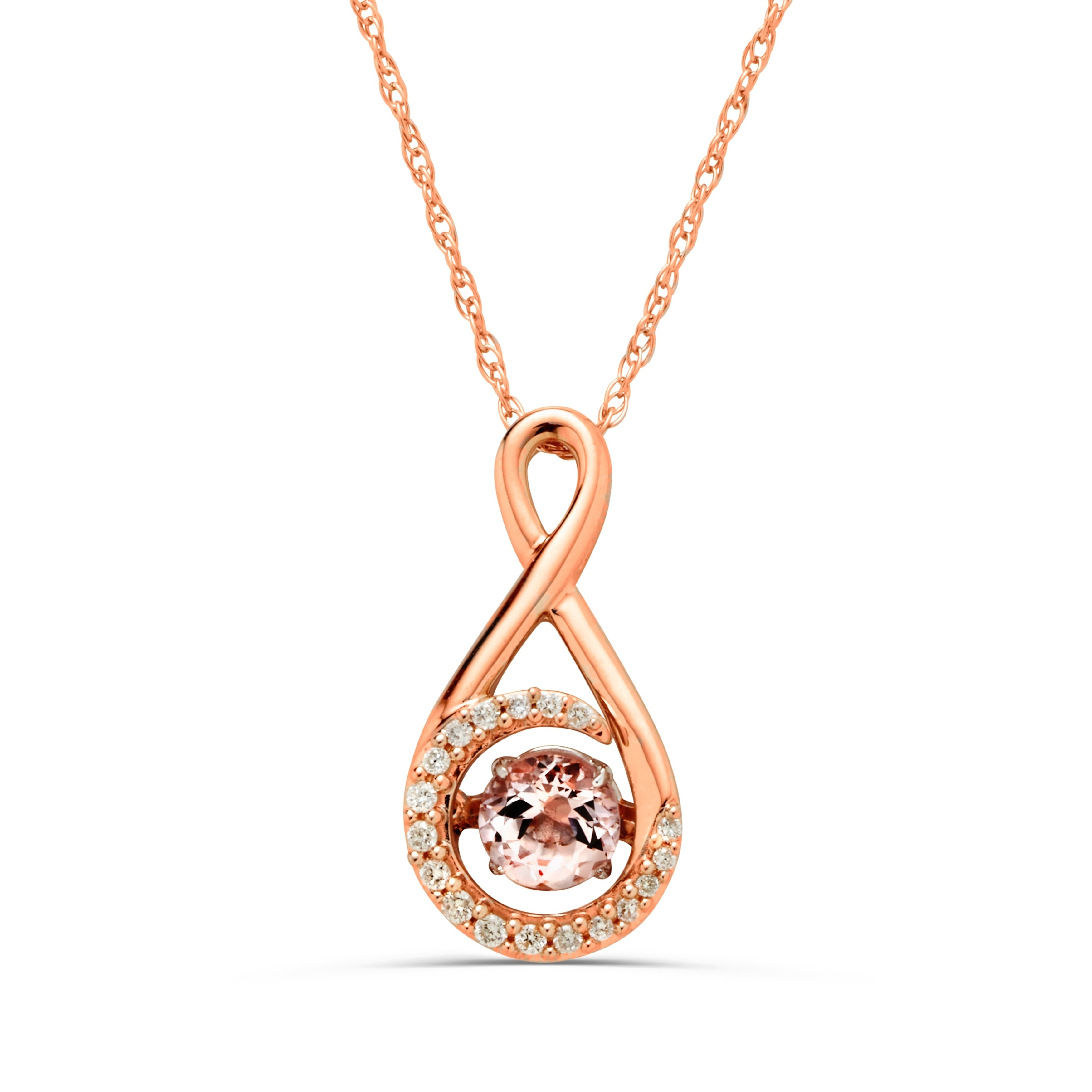 diamonds necklace cushion gold all necklaces cut tw with pendant morganite in rose