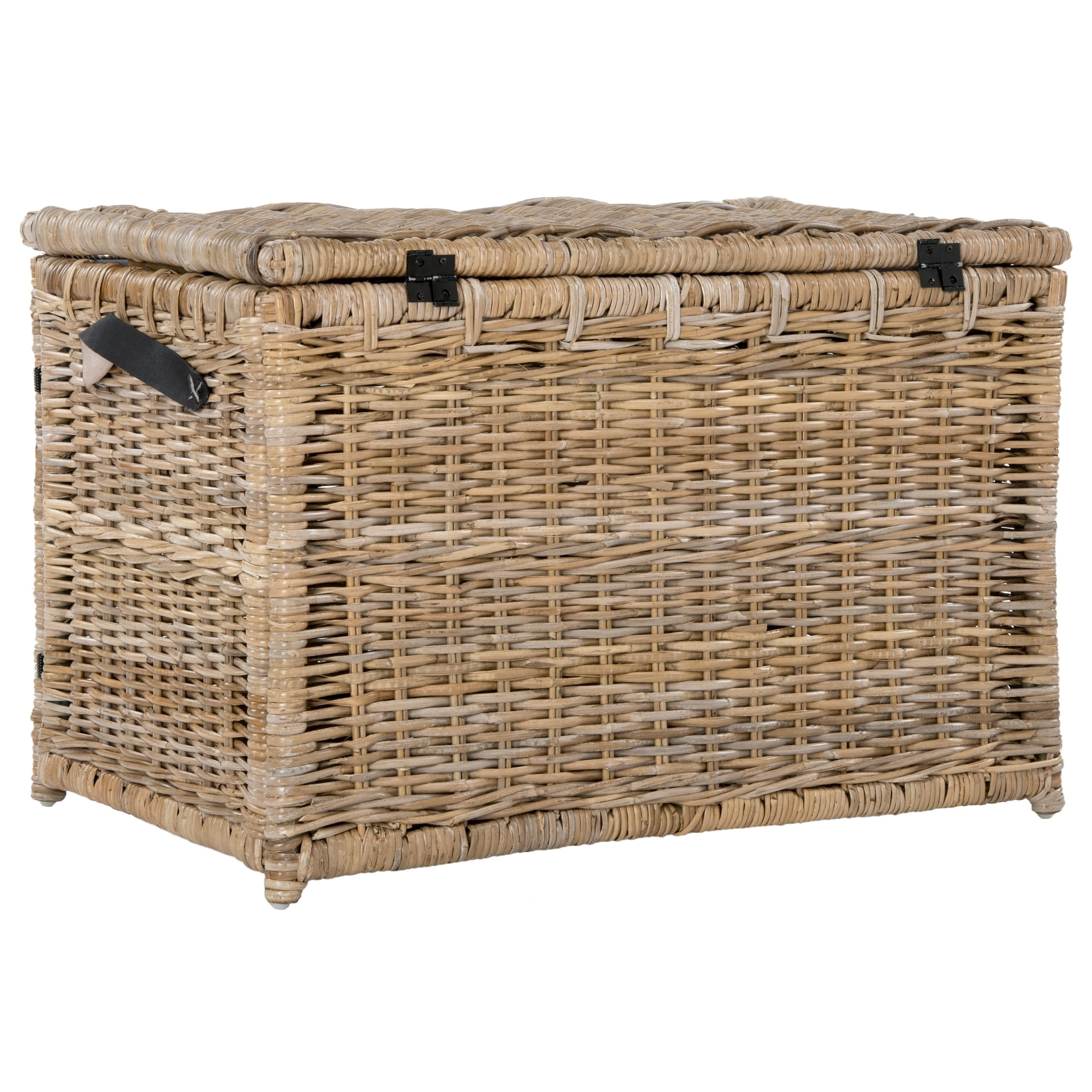 Shop happimess Michael 35  Wicker Storage Trunk Gray - Free Shipping Today - Overstock.com - 17818379  sc 1 st  Overstock.com & Shop happimess Michael 35