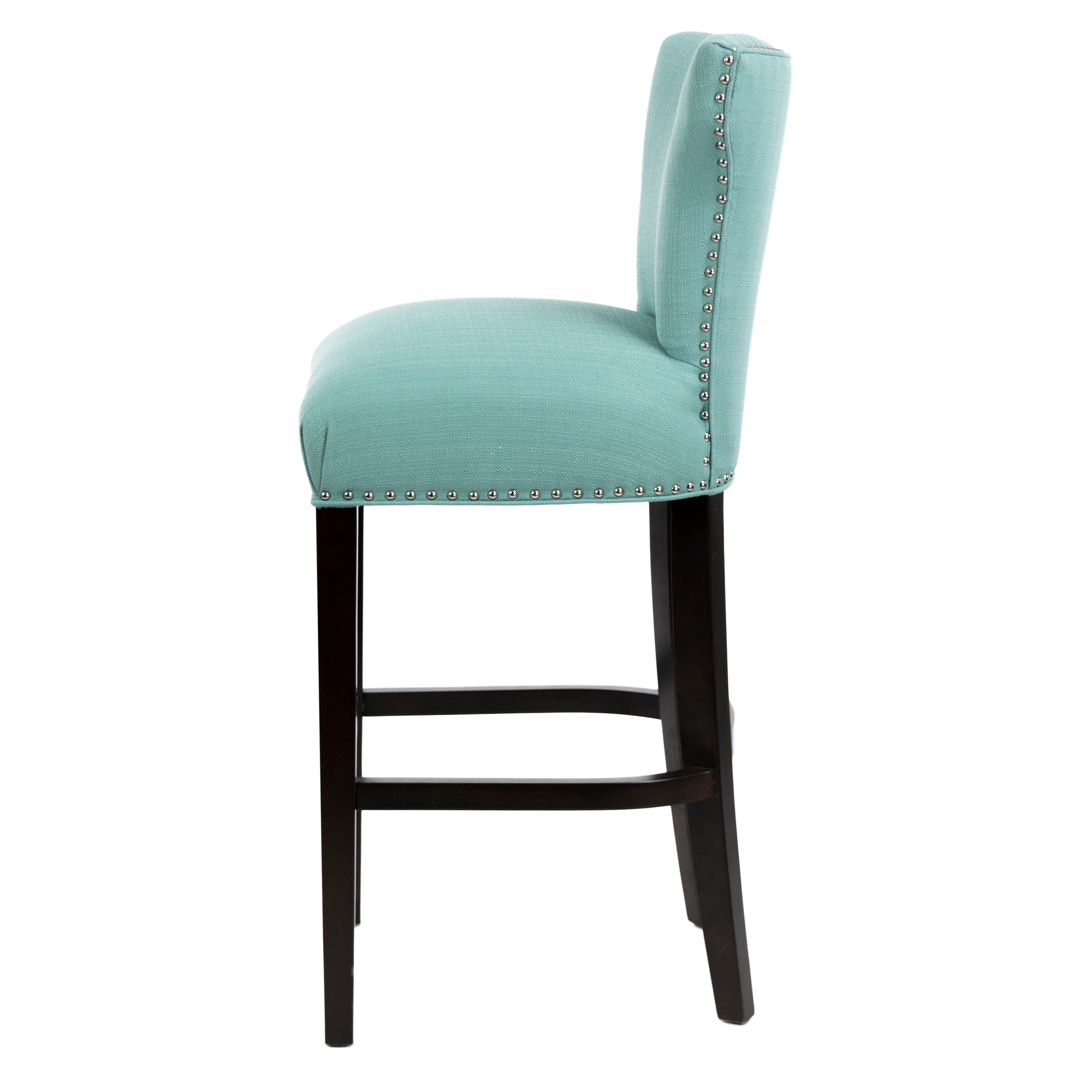 Sole Designs Bella Collection Modern Sachi Fabric Upholstered Counter Bar Stool With Nail Trim Wingback Design On Free Shipping Today