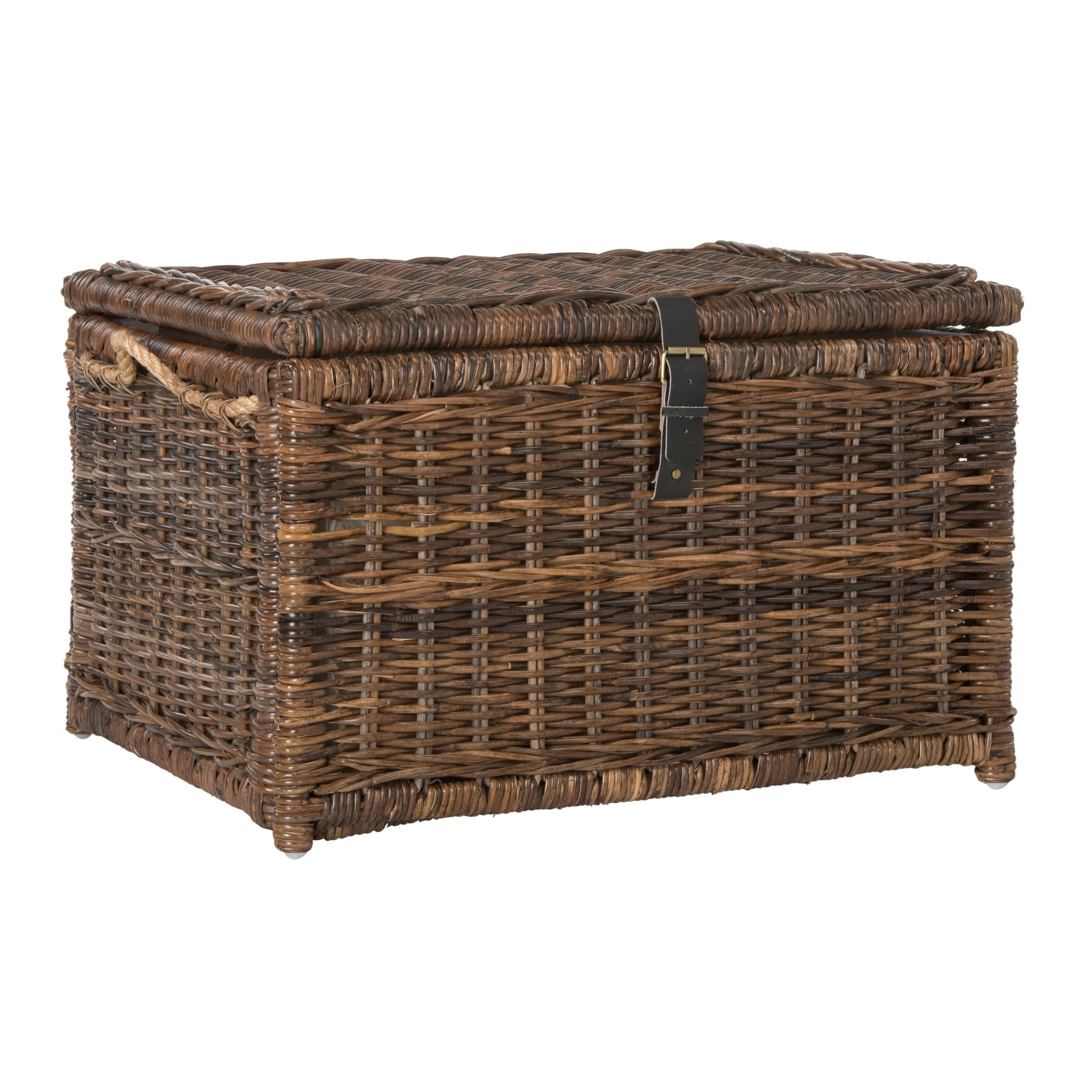 Shop happimess Caden 30  Wicker Storage Trunk Brown - On Sale - Free Shipping Today - Overstock.com - 17818391  sc 1 st  Overstock.com & Shop happimess Caden 30
