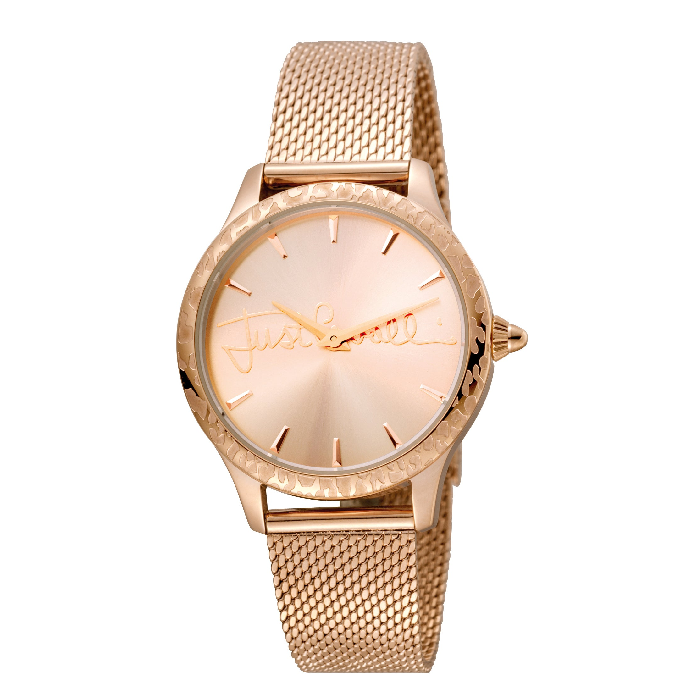 Shop Just Cavalli Women s Quartz Stainless steel Mesh Band Watch - Free  Shipping Today - Overstock.com - 17819102 9217abe6fa