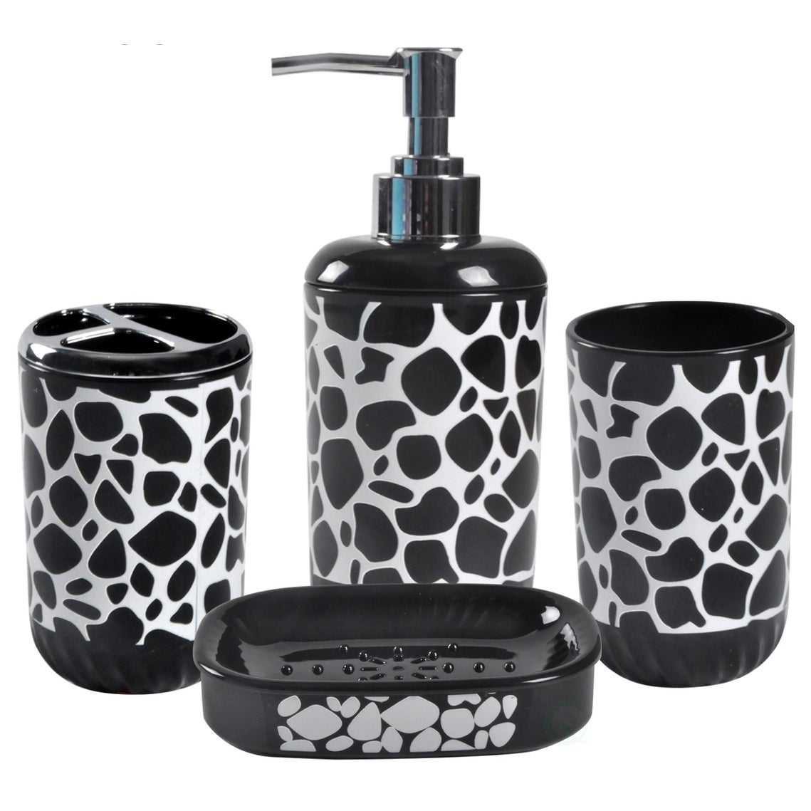 Shop 4 Piece Bathroom Accessory Set Includes Soap Dispenser