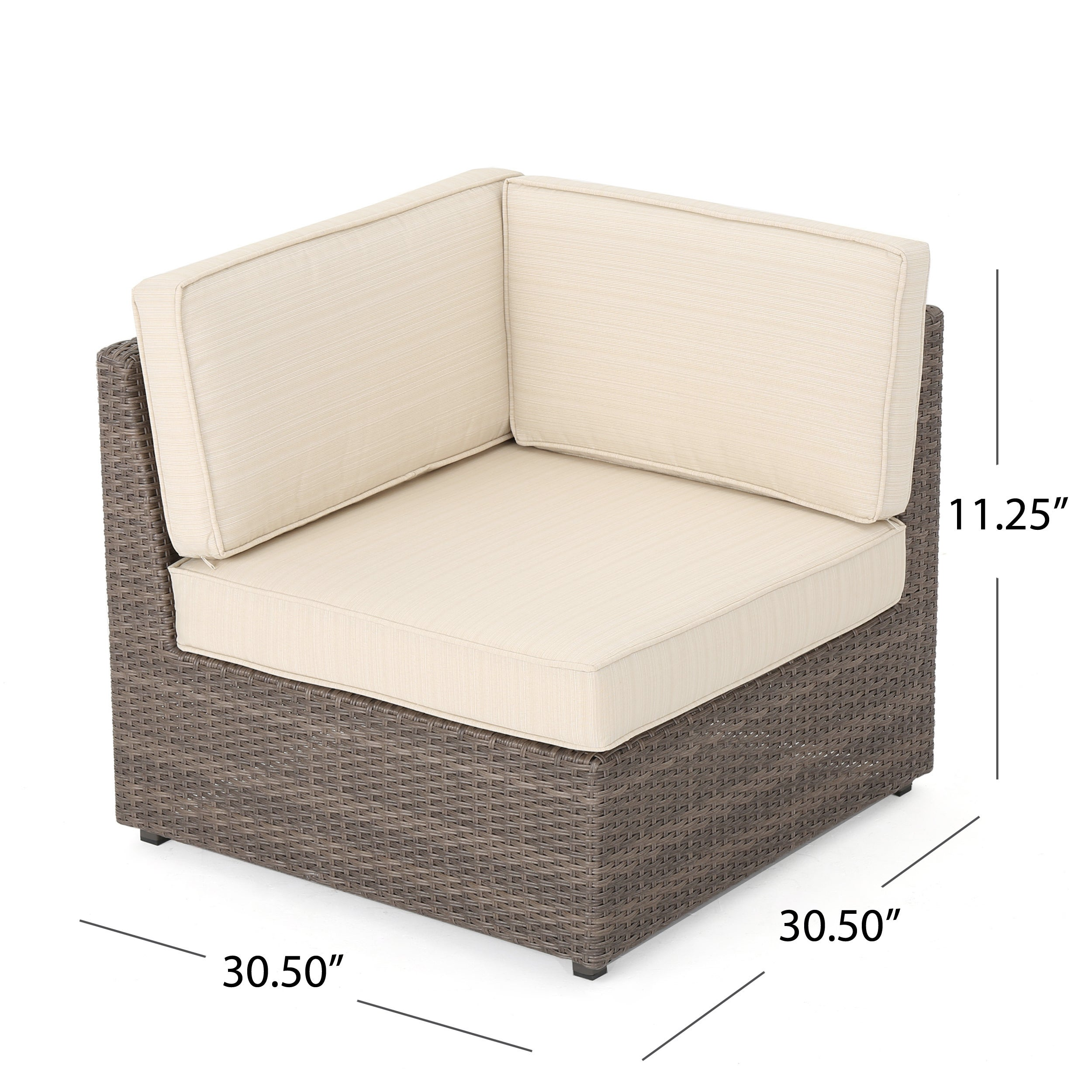 Santa Cruz Outdoor 8-piece Wicker Sofa Set with Water Resistant ...