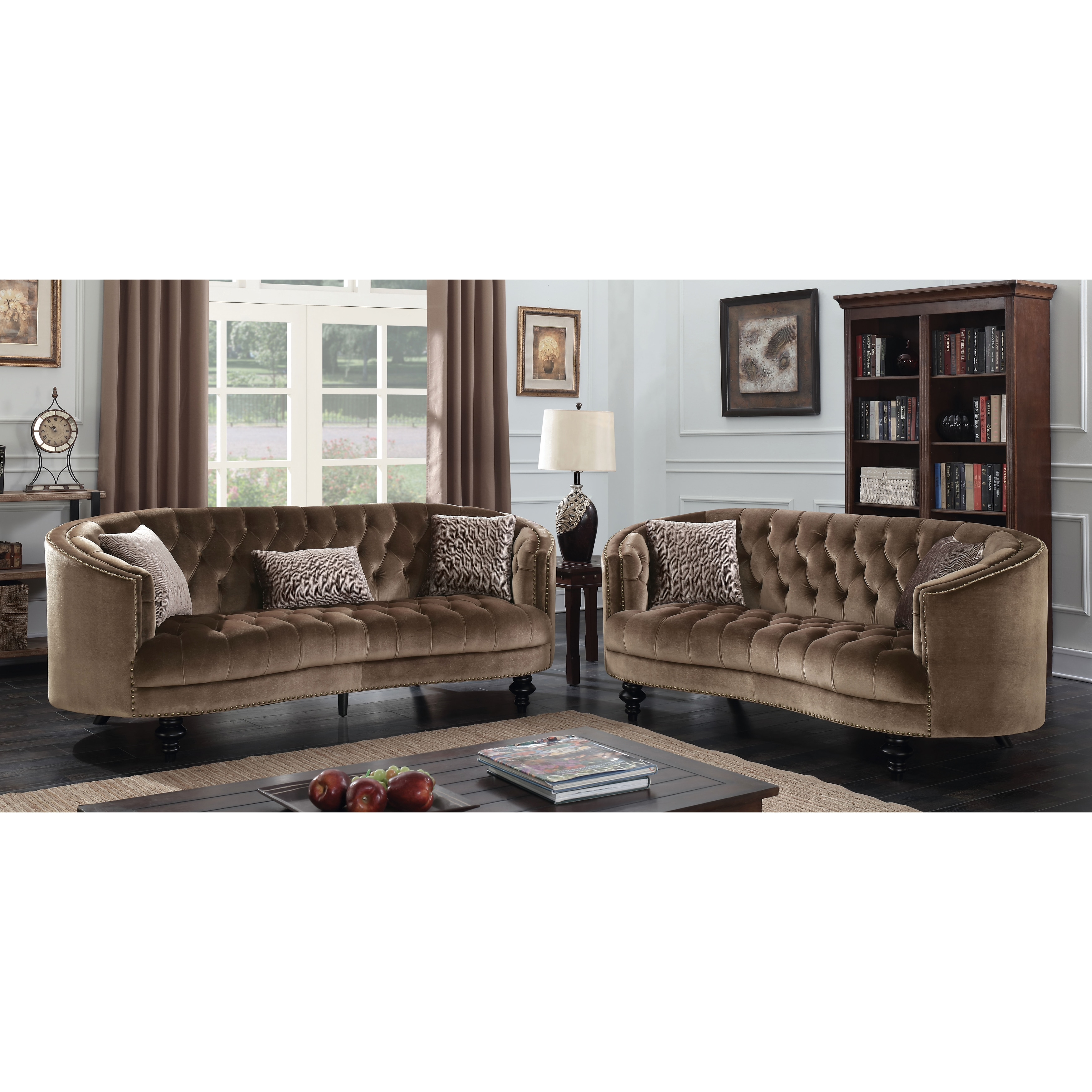 Merveilleux Shop Furniture Of America Sevi Glam 3 Piece Tufted Flannelette Sofa Set    On Sale   Free Shipping Today   Overstock.com   17833143