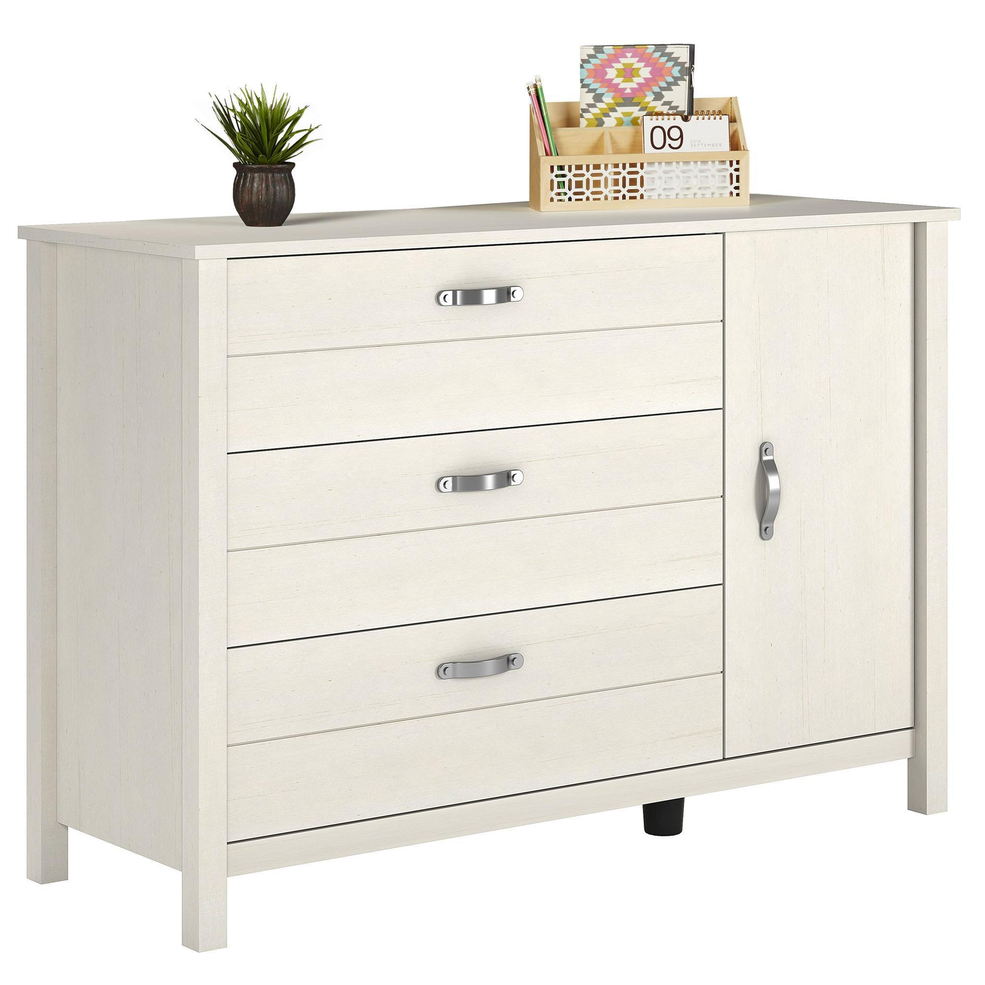 Shop Ameriwood Home River Layne 3 Drawer And 1 Door Dresser   On Sale    Free Shipping Today   Overstock.com   17833599