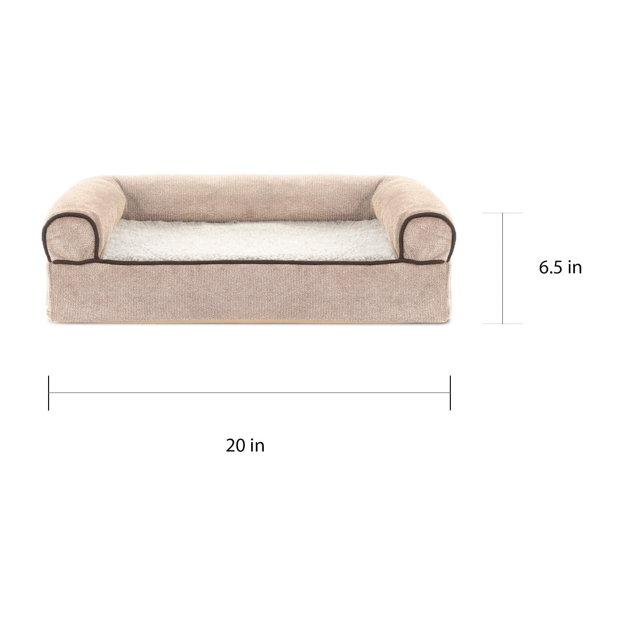 Furhaven Faux Fleece Chenille Soft Woven Orthopedic Sofa Pet Bed On Free Shipping Orders Over 45 17834190