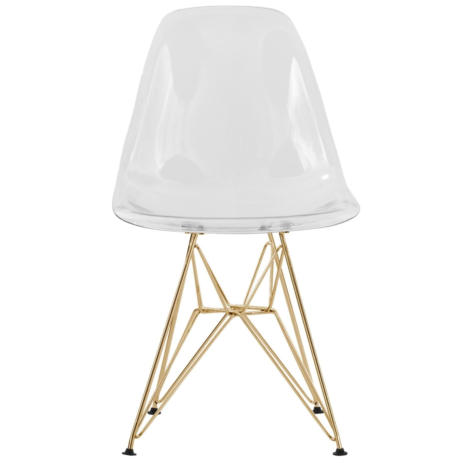 Shop LeisureMod Cresco Molded Eiffel Clear Side Chair With Gold Base   On  Sale   Free Shipping Today   Overstock.com   17834333