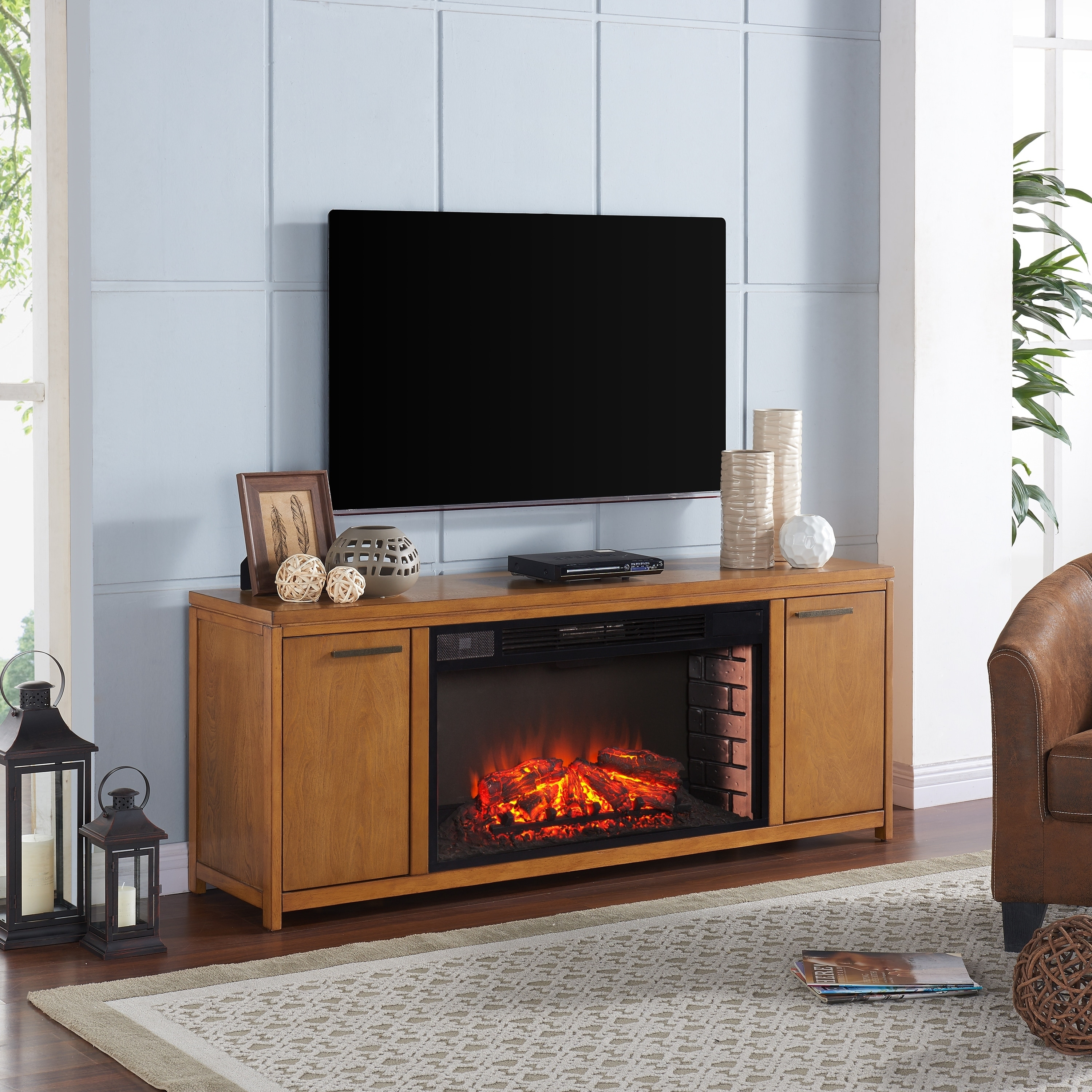 fireplace electric tv decoration center stand modern magnificent ideas remarkable media fireplaces