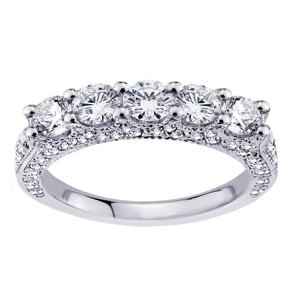 Platinum 1 4 5 Ct Stone Diamond Encrusted Wedding Band Free Shipping Today 24027400