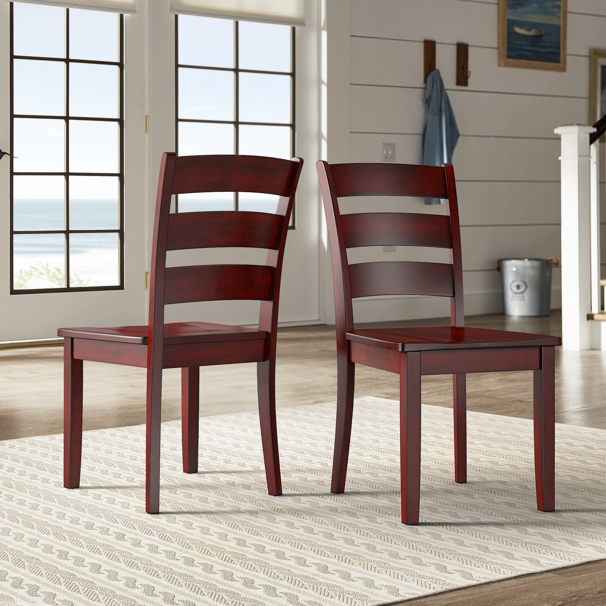 Shop Wilmington II Ladder Back Wood Dining Side Chairs (Set Of 2) By  INSPIRE Q Classic   On Sale   Free Shipping Today   Overstock.com   17847690