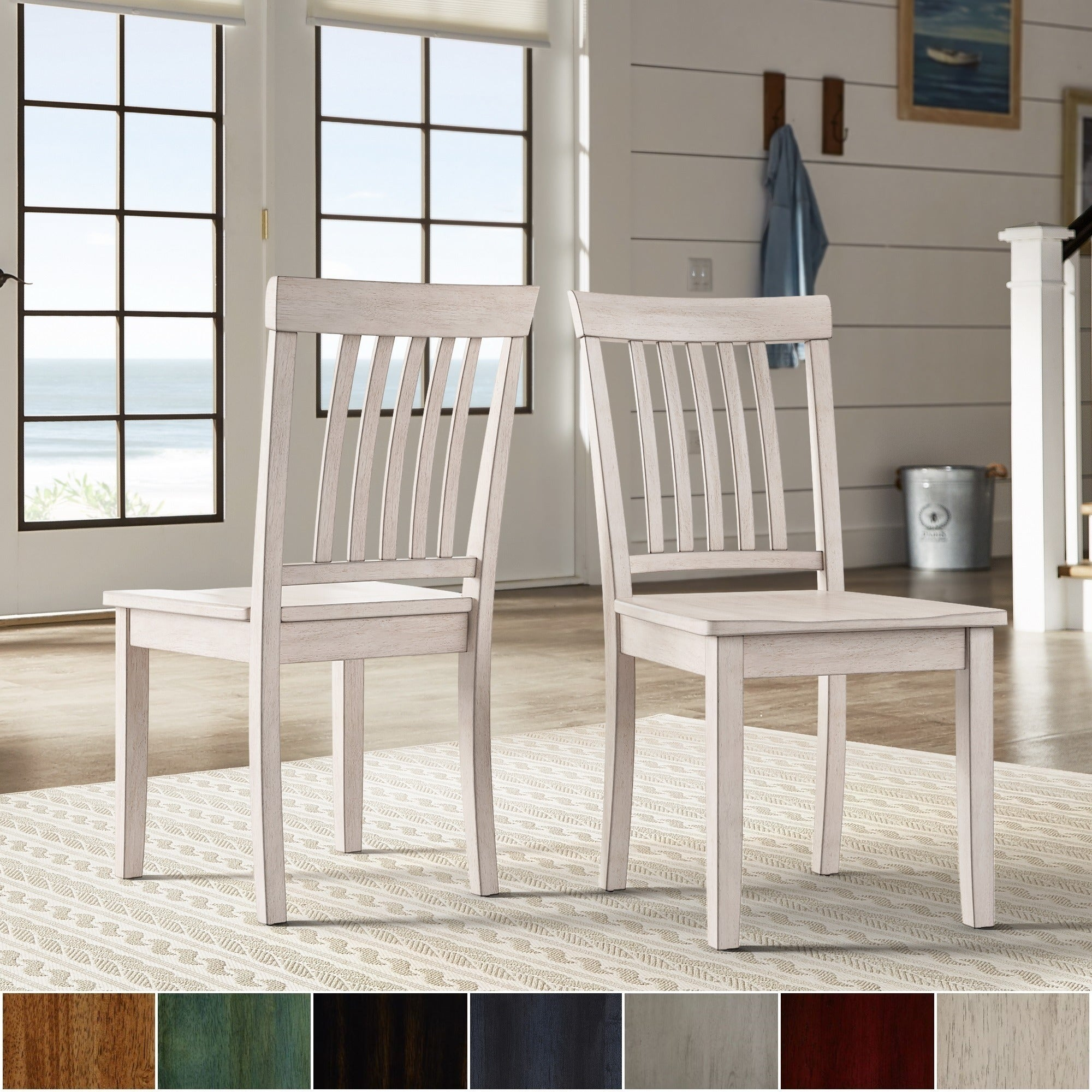 Shop Wilmington II Mission Back Wood Dining Side Chairs (Set Of 2) By  INSPIRE Q Classic   Free Shipping Today   Overstock.com   17847691