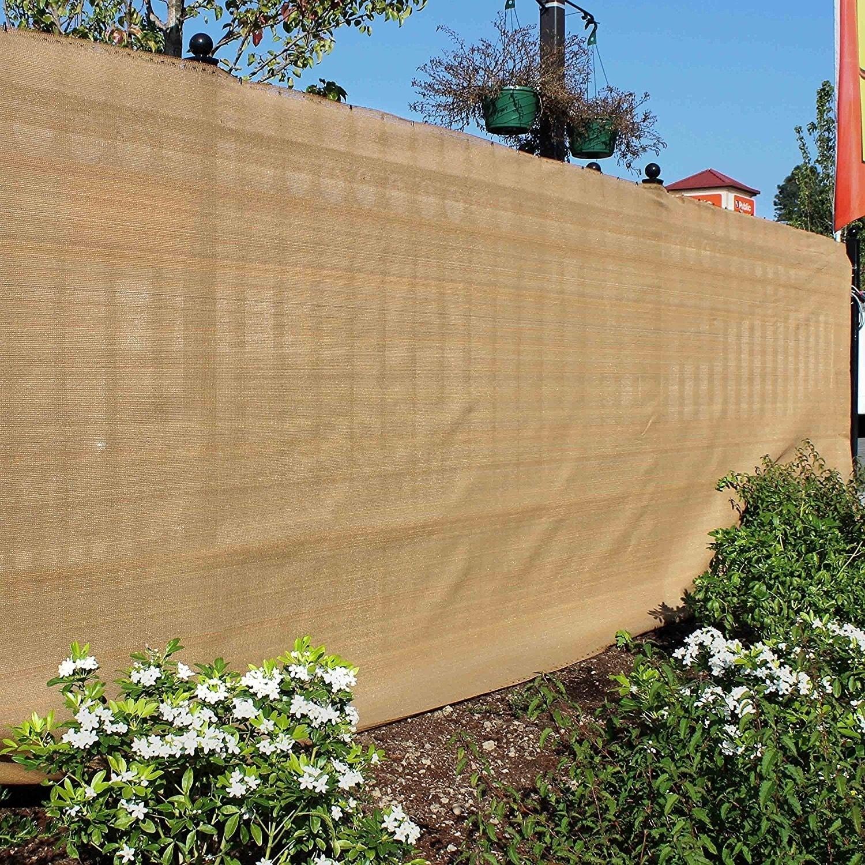 ALEKO 6\'X150\' Sample Eye Fence Privacy Outdoor Backyard Beige Screen ...