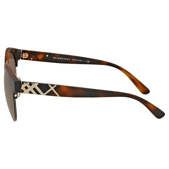 90313dd7b061 Shop Burberry Women s BE4241 338213 52 Mt Havana Pale Gold Plastic Round  Sunglasses - Brown - Free Shipping Today - Overstock.com - 17850426