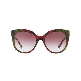 3aec5d9c35d2 Shop Burberry Women s BE4243F 36388H 55 Havana Green Bordeaux Green Plastic  Cat Eye Sunglasses - Violet - Free Shipping Today - Overstock.com - 17850428
