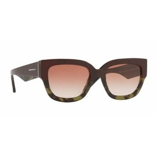 24801bd3d55 Shop Burberry Women s BE4252 365113 53 Top Bordeaux On Green Havana Plastic Square  Sunglasses - Brown - Free Shipping Today - Overstock - 17850442