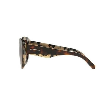 051d42a73c9e Shop Burberry Women s BE4253 365113 54 Top Bordeaux On Green Havana Plastic  Round Sunglasses - Brown - Free Shipping Today - Overstock.com - 17850501