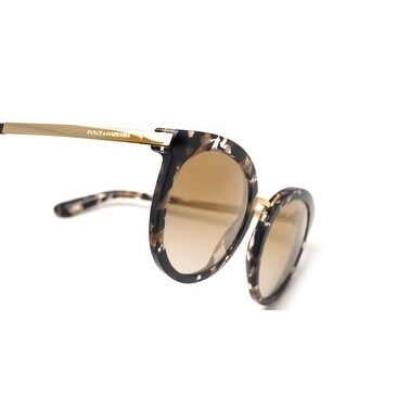 fd25b8eb4261 Shop Dolce   Gabbana Women s DG4268 911 6E 52 Grad Light Brown Mirror Gold  Metal Round Sunglasses - Ships To Canada - Overstock - 17850508